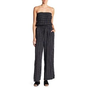 Mustard Seed Striped Strapless Jumpsuit